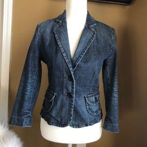 Express denim 2-button blazer/jacket